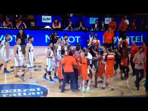 Perth Wildcats vs. Adelaide 36ers Post Game Scuffle