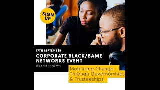 Corporate Black/BAME Networks: Mobilising Change Through Governorships & Trusteeships
