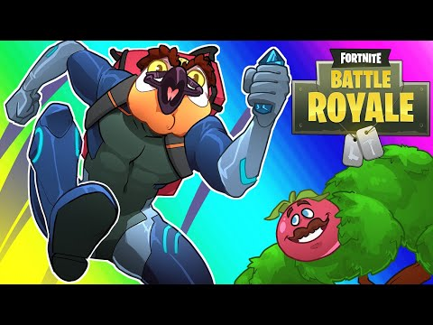 Fortnite Season 4 Funny Moments - Crater Survival and Sick Jump Powers!