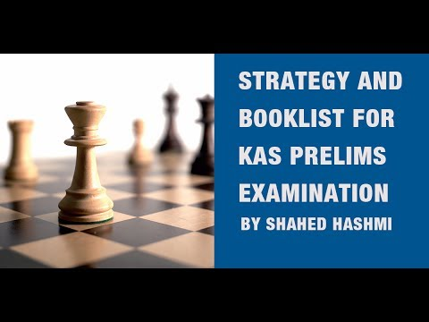 Strategy and Booklist for excelling in KAS by KPSC Prelims Examination
