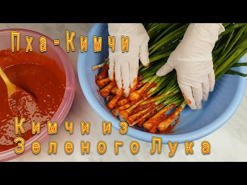 Корейское Кимчи из Зеленого Лука Рецепт Korean Green Onion Kimchi Recipe 파김치 만들기