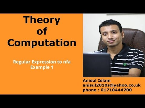 Theory of computation Bangla tutorial 70 :  Regular Expression to nfa Example 1