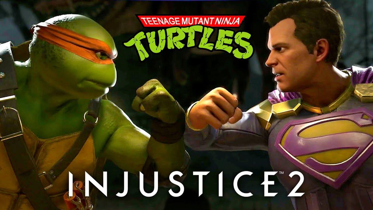 Injustice 2 Teenage Mutant Ninja Turtles Gameplay PS4
