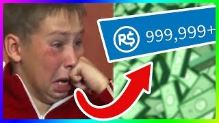 kid spends all of his parents money on robux.. (roblox)