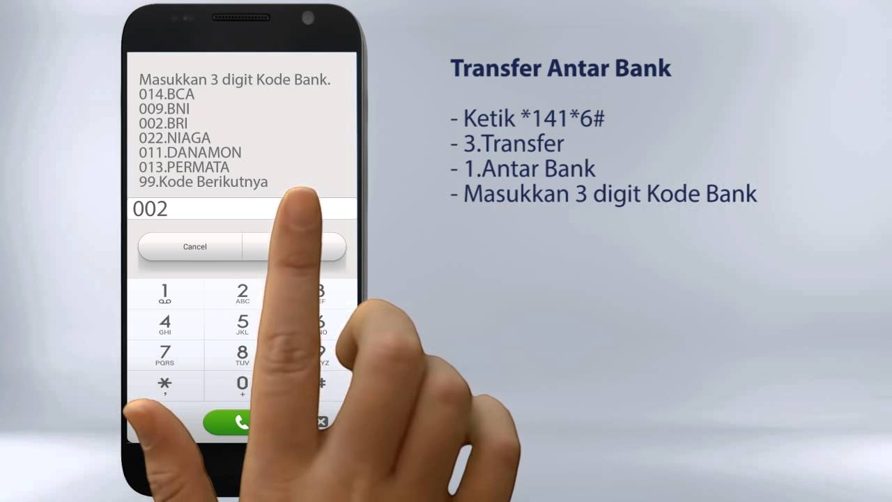 tutorial | mandiri sms | transfer antar bank | 2014 - YouTube