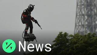 Flyboard Wows at Paris's Bastille Day Parade