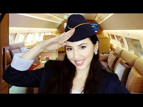 ASMR FIRST CLASS Flight and SPA Service - Flight Attendant Role Play