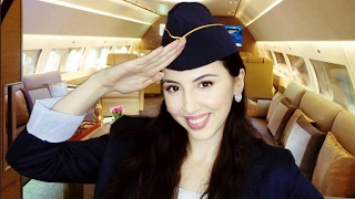 ASMR FIRST CLASS Flight and SPA Service - Flight Attendant R...