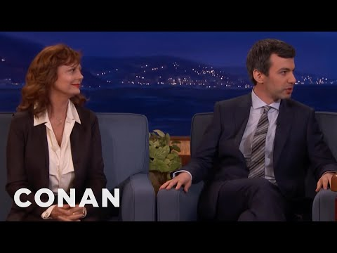 Nathan Fielder Brought Susan Sarandon As A BackUp Guest   CONAN on TBS