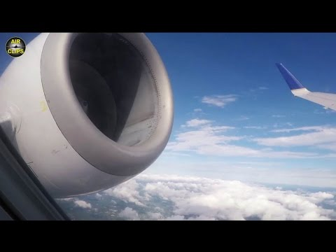 United Express Embraer 145 Newark to Halifax, bad weather landing! [AirClips full flight series]