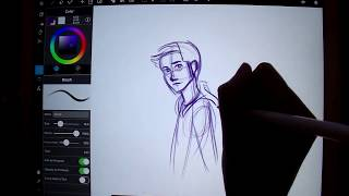 Drawing Stiles from Teen Wolf on iPad Pro