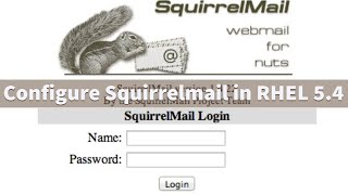Configure squirrelmail in RHEL 5.4