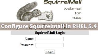 Configure squirrelmail in RHEL 5.4