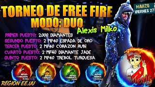 🌟TORNEO / DIRECTO DE FREE FIRE JUGANDO SALAS PRIVADAS CON MINIJUEGOS  REGION EE.UU / DINAMICAS