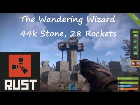 The Wandering Wizard: Hard to Raid 44K Stone, 16 C4 or 28 Rocket Rust Base