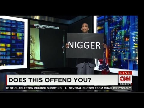 Don Lemon Hates Being Black Holds Up N-Word Sign