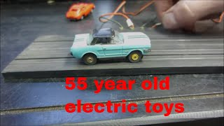 will they run? 1960s slot car set sitting 40 years.