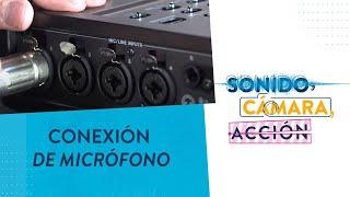 Cómo conectar un micrófono en la Tascam DR-680 I CMA