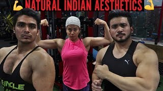 When natural Indians trains chest and back 💪