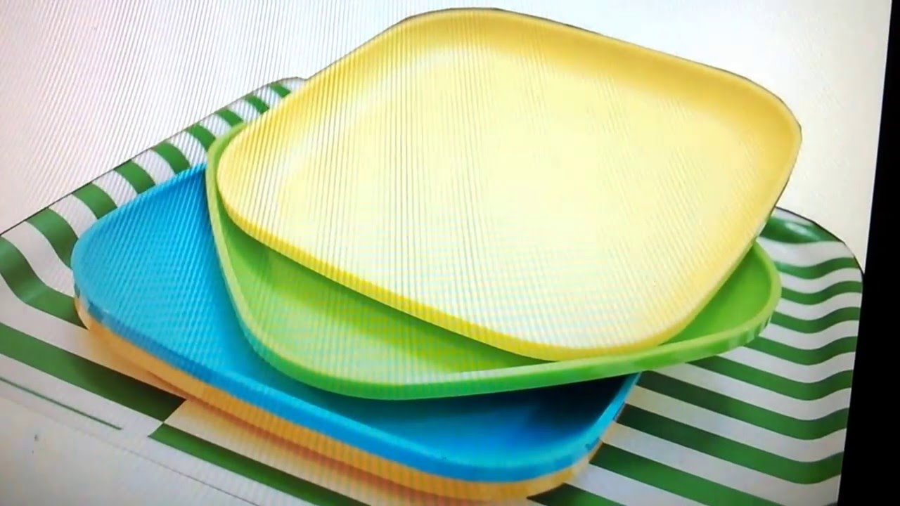 Ebay Tupperware Microwave Luncheon Plates Set Of 2 Free Shipping New