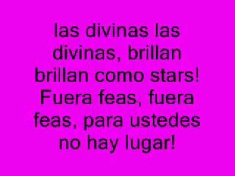Las divinas (Brenda Asnciar) Patito Feo Gasolina  Karaoke con coro