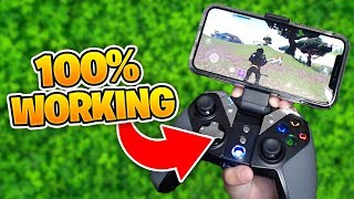 Fortnite Mobile USING a CONTROLLER 'WORKING' 100%
