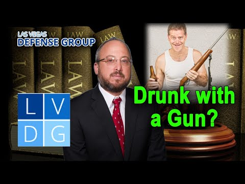 Is it illegal to possess a gun while intoxicated in Nevada? 2020 UPDATE IN DESCRIPTION