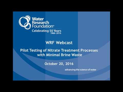 Pilot Testing of Nitrate Treatment Processes with Minimal Brine Waste