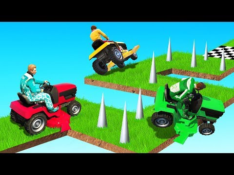 99% IMPOSSIBLE Lawnmower Test! (GTA 5 Funny Moments)