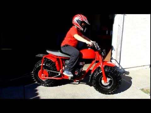 Custom Fat Tires Mini Bike Out Of 3 Wheeler Youtube