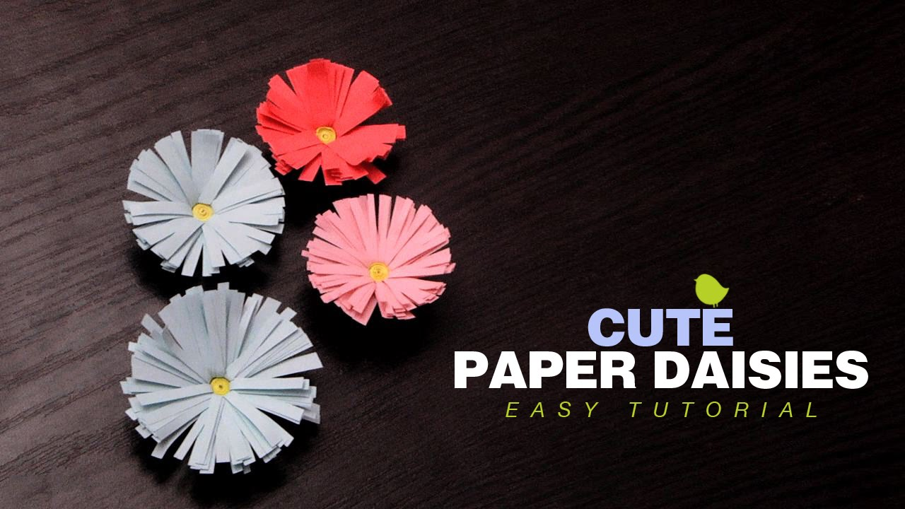Diy Crafts How To Make Paper Daisies Easy Paper Flowers Tutorial