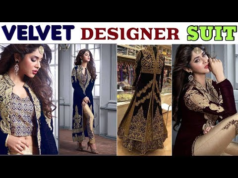 Buy Now Heavy Designer Velvet Salwar Kameez Ll COD  Available Ll Free Shipping In India