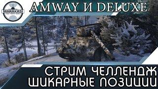 СТРИМ ЧЕЛЛЕНДЖ ШИКАРНЫЕ ПОЗИЦИИ (Amway и DeLuxe) World of Tanks