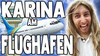 Karina bei der Arbeit - Am Flughafen!