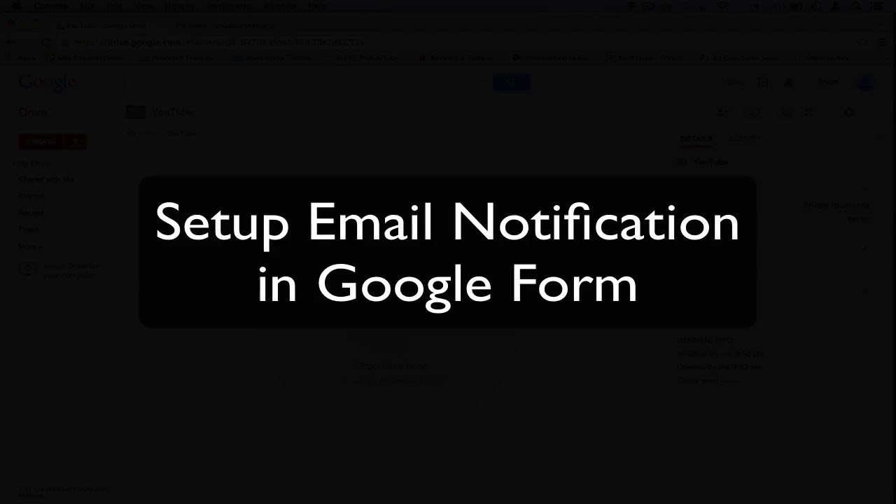 Solved] Get Email Notification in Google Form / Google Docs - YouTube