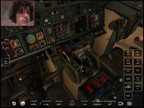 Infinite flight simulator 737-700  WestJet  Smooth landing!!!