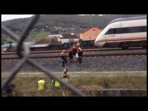 Evacuan del tren paralizado en la vía a los pasajeros