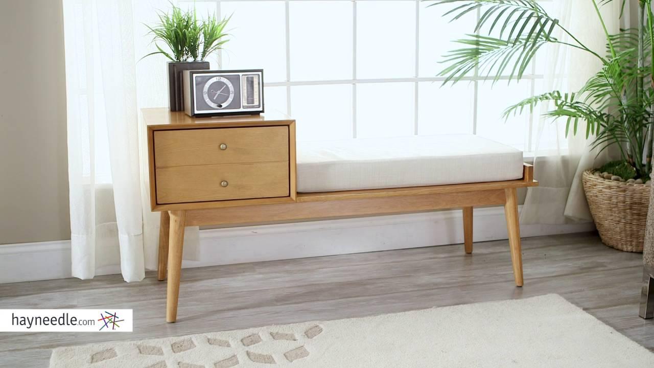 belham living finn mid century modern bench product review video