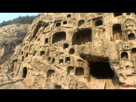 Luoyang - Longmen Grottoes - Trip to China part 28 - Full HD Travel video