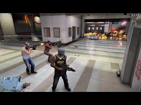 GTA 5 - Franklin, Michael and Trevor Five Star Escape From The BURTON STATION # 63