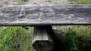 229 Three Old Wooden Park Bench