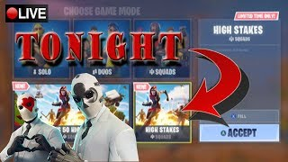 FORTNITE LIVE | COUNTING DOWN TO HIGH STAKES LTM + GRAPPLING HOOK + NEW SKIN | 1K+ WINS | 30K+ KILLS