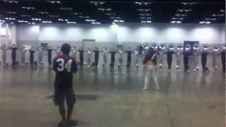 2011 Cadets Hornline - DCI Finals Indoor Warmup: On a Hymnsong of Philip Bliss