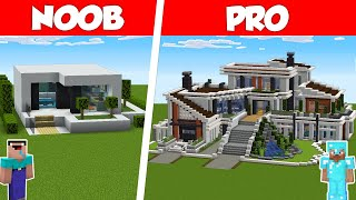 Minecraft NOOB vs PRO: MODERN HOUSE BUILD CHALLENGE in Minecraft / Animation
