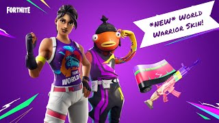 'NEW' World Warrior Skin Gameplay! Plus de 390 victoires 13.5k 'Tue '!insta ' Diffusion en direct de Fortnite (PS4)