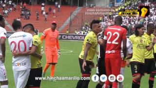 Incidentes entre jugadores de Barcelona y Liga de Quito en Casa Blanca | Hincha TV