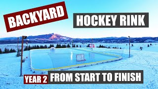 Backyard Hockey Rink From Start to Finish   Year 2 Expansion and Updates