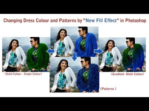 How to Change Dress Colour and Patterns - Photoshop Tutorial by tutsdaddy com