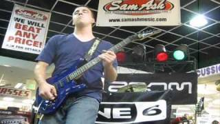 Jason Lovelace Best in Shred at Sam Ash Playing Erotic Nightmares by Steve Vai