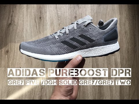 adidas-pureboost-dpr-'grey-five-/dgh-solid-grey'- -unboxing-&-on-feet- -running-shoes- -2017- -hd